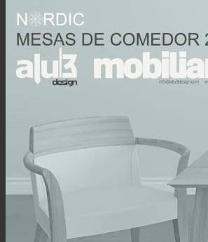 catálogo alu3 mobiliario mesas de comedor